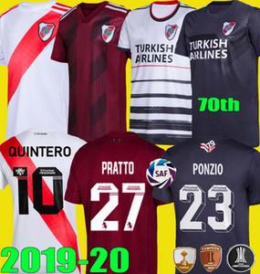 70 ° 2019 2020 3 ° River Plate PONZIO maglie calcio 70 anni casa lontano CAMICIE 19 20 SCOCCO CASCO MARTINEZ ROSSO PEREZ FERNANDEZ CALCIO