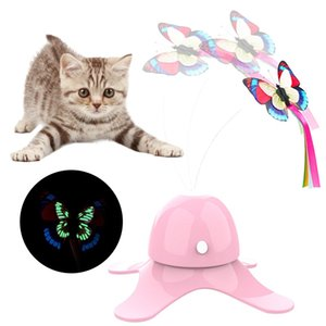 Electric Cat Toys Funny Exercise Interactive Toy Electric Rotating Kitten Toys With Butterfly Playing Interactive Pet Toy 30E