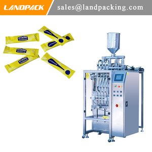 Multi-función automática de múltiples Mayonesa carril palillo de embalaje de la máquina salsa líquida de tipo vertical, llenado y sellado de la máquina