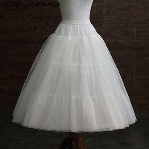 Cielarko Girls Skirt Kids Petticoat for Formal Gown Tulle Basic Children White Underskirt with Hoops for Wedding Accessories Y200704