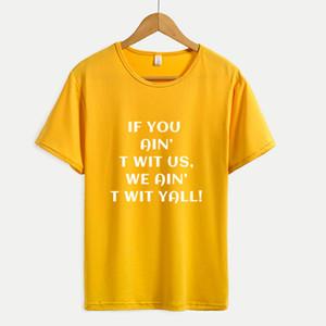 Moda Donna T Shirt Lettere stampa Tops nuovo modello attivo per esterno funzionare 2020 estate nuovi vestiti per all'ingrosso