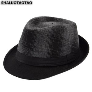 SHALUOTAOTAO Autumn Winter Men's Hat New Woolen Thermal Fedoras Fashion Panama Brands Sombrero Leisure Party Jazz Hats Casquette