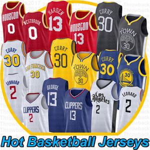 NCAA Leonard Stephen Curry 30 camiseta de baloncesto Russell Westbrook 0 James Harden 13 13 Paul George