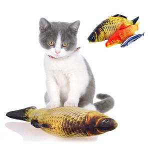 Catnip Gerçekçi Balık Pet Kedi Oyuncak Peluş Çim Sazan Somon Crucian Sazan Topluca Yastık Komik Kedi Yastık Oyuncak
