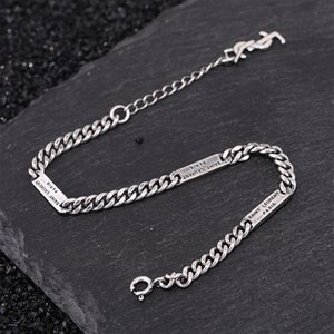 S925 silver girl bracelet personality simple jewelry retro fashion student letter modeling birthday gift 2020 hot sale Bracelets