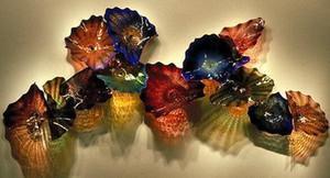 Цветные лампы Плита Искусства для украшения дома Современные Светильники Мурано Цветок Стекло Висячие Плиты Настенное искусство
