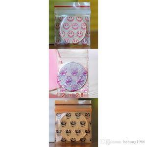 Nuova stampa creativa trasparente catena di clip di plastica anello dell'orecchino Pendente autosigillante Bag Mini sacchetti di immagazzinaggio di vendita calda 1 8zq