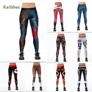 S-4XL Women Yoga Pants Team Leggings Fitness Harajuku 3D Printed Tights Plus Size 2019 Harley Quinn Gym Workout Run Sportswear Y200529