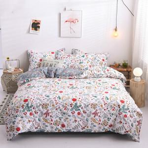 Solstice Home Textile Cartoon Polar bear Bedding Sets Children's Beddingset Bed Linen Duvet Cover Bed Sheet Pillowcase bed Sets