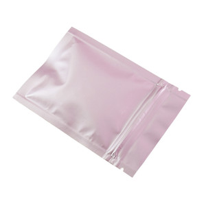 7x10cm Small Zip Lock Pink Aluminum Foil Packing Pouch 500Pcs Glossy Surface Mylar Ziplock Foil Candy Coffee Powder Sample Bag