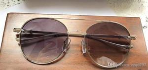Novos homens marca desinger óculos de sol CRH new york designer óculos de sol rodada revestimento de armação de metal lente polarizada óculos de estilo UV400 lente.