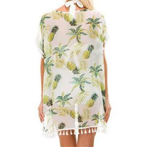 Pareo Beach Wear Lace Crochet vestito dallo Swimwear di occultamento del bikini Estate caftano One Size Poliestere Stampa Mini Estate