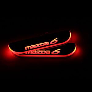 Para Mazda 6 Mazda 6 2013-2020 acrílico Movimiento Bienvenido LED del coche del pedal placa del desgaste del travesaño de la puerta del pedal Camino Luz