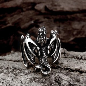 Heat ! Movie character Rights Games Dragon Rings 316L Stainless Steel Mens Biker Rings Punk Rock mens rings Free Shipping
