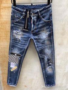 19SS D2 новые мужские роскошные джинсы мода повседневная мужская тонкий джинсы высокое качество Марка джинсы D2 хлопок длинные брюки Оптовая горячая