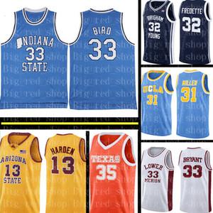 Топ Университет штата Индиан Джерси топ Larry 33 Bird баскетбольного Mens NCAA университет Дешевый оптовый Джерси