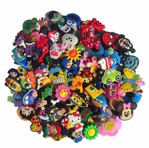 100pcs lot various styles random shoe accessories shoe charms , shoe decoration fit croc for children gift
