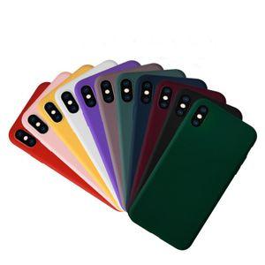 Caso Colori del telefono ultra sottile Candy per l'iphone 11 Pro Max XS MAX XR X 6S 7 8 più telefono Frosted caso libero