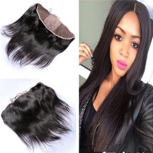 Silk Base-Spitze-Stirn Schliessen mit Baby-Haar-Jungfrau-brasilianische seidige gerade Silk Top Lace Frontal 13x4 Günstige Seide Frontal Closure