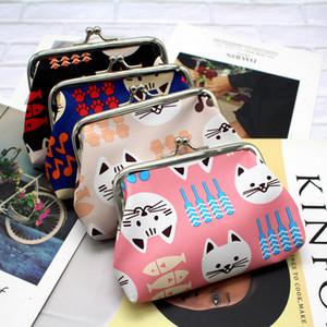 2020 Porte-monnaie style coréen de mode des filles Cartoon Cats bourse Pu cuir Creative Wallet Les étudiants de petits cadeaux sac rouge à lèvres pour les femmes