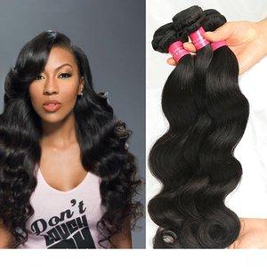 H 8А Бразильский Девы волос Body Wave Extensions волос Double Уток Необработанные Human Body Hair Wave Связки Dyeable