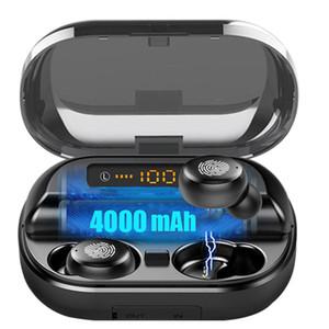 Высокое качество V11 TWS Bluetooth наушники управления беспроводной Спортивные наушники сенсорный водонепроницаемый дисплей светодиодный индикатор питания 4000mAh беспроводные наушники