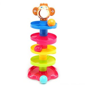 Baby Puzzle Billiard Player Catching The Ball Stacking Layered Tower Other Toys Bell Ball Enlightenment Toy