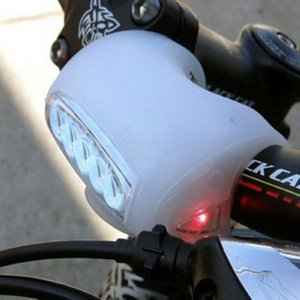 2020 Cycling Bike White Silicone Bicycle 7 LED Super Light Front Safety Lamp ON SALE!!