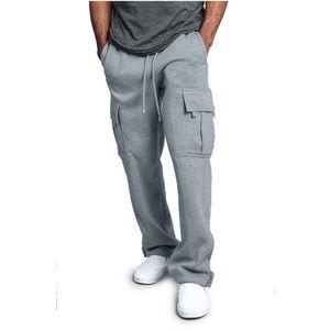 Jaycosin Bahar Sweatpants erkek Düz Renk Spor Pantolon Dikiş Tulum Rahat Cep Spor Çalışma Rahat Pantolon Hip Hop MX190717