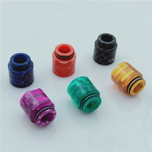 TFV8 Honeycomb Resin Drip Tip 810 Thread Cobra Pele Colorida Wild Cobra Drip Tips Bocal de diâmetro largo para TFV12 TFV8 Big Baby