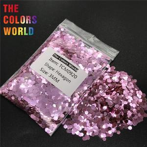 TCM0920 Rose Pink Color Metallic Luster Hexagon Shape Nail Glitter Nail Art Decoration Makeup Gel BodyGlitter Henna Handwork DIY