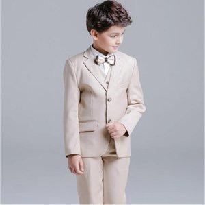 Новый мальчик Формальный костюм Дети Четырехзные костюмы для свадебного события (куртка + брюки + жилет + рубашка) кольцо мальчик смокинг для свадьбы на заказ