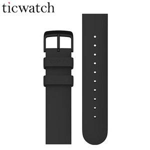 Originale Ticwatch 20 millimetri universale cinghia del gel di silice Orologio con catenaccio dell'acciaio inossidabile di smart Guarda Accessori Per orologio sportivo