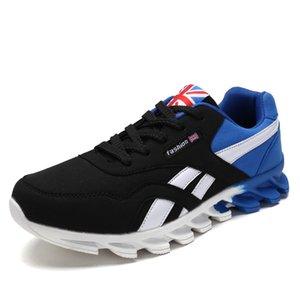 WIENJEE Yeni Erkekler Yaz Nefes Bıçak Sneakers Yüksek Kalite Açık Işık Rahat Spor Spor Ayakkabıları Erkek Ayakkabı Koşu