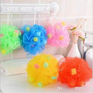 Lovely Sponge Bath Ball Bath Sponge Love Summer Multi color Choose Flower Bath Towel Strap for bathrom b893