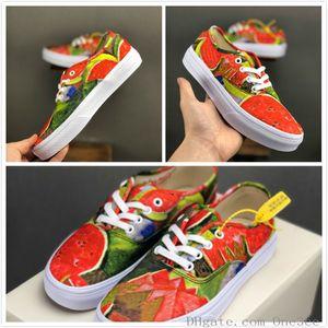 2019 New Lovers Kahlo Chaussures de sport en toile Hommes basse pastèque Motif Chaussures Womens classiques 36decon Chaussures Casual Hommes Outdoor Taille chaussures 36-44