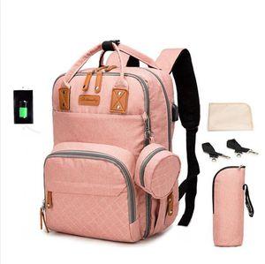 Large Capacity Waterproof Maternity Backpack Mommy Backpack USB Nappy Diaper Bag Mother Handbag Outdoor Nursing Travel Bag LJJP32