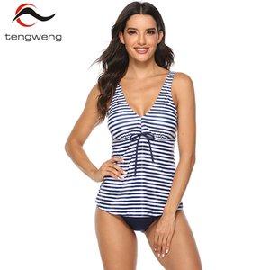 Tengweng 2019 Новый 5XL плюс размер танкини набор листьев купальники женщины две части купальник шорты печати бразильский женский купальный костюм