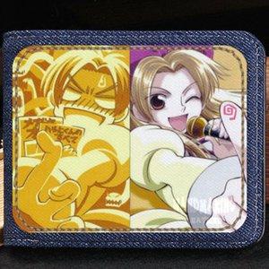 SM rei carteira Ouran bolsa de clube do ensino médio Anime curto caso de nota de dinheiro Dinheiro notecase Couro jean burse saco titulares de cartão