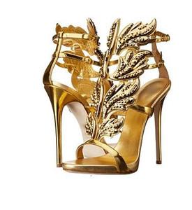 Hot Sale-Datum 2016 heiße verkaufende Gold Silber Coline Sandaletten Marke Gilded Cage Sandalen Frauen Größe 34-42