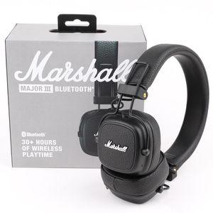 Marshall Major III Headphones 3.0 Bluetooth Wireless Headset Deep Bass Noise Isolating Hi-Fi Earphone PK Marshall II Marshall Monitor