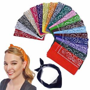 Пейсли повязка на голову банданы шарф повязка на головные уборы усмирения женщин аксессуары для волос оголовье головные уборы усмирения усмирения CCA6636 300шт