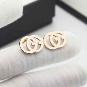 Üst Kalite Basit Küpe Altın Renk Paslanmaz Çelik İnci G Küpe Altın Gümüş Kulak Studs İçin Kadınlar Düğün Takı