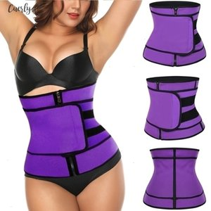 New Fashion Waist Trainer Body Shaper Neoprene Slimming Belt Shapwear Modeling Strap Corset Zipper Drop Shipping