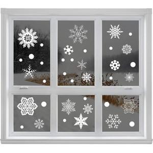 Ventana de la Navidad del copo de nieve pegatina electrostática etiqueta de la pared pegatinas sitio de los niños decoración de la Navidad de la etiqueta Año Nuevo fondo de pantalla DBC VT0978