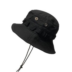 Windproof Rope Bucket Hat Ladies Women Men Beach Sun Wide Brim Fishing Hat Fisherman Cap Panama Pop Hip Hop Harajuku Hunting Outdoor Summer
