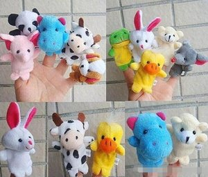 في الأوراق المالية للجنسين لعبة دمى الأصابع Finger الحيوانات اللعب لطيف الكرتون للأطفال s لعبة الحيوانات المحنطة اللعب