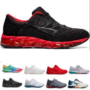워킹 슈즈 GEL-양자 (360) (5) 청소년 남성 새로운 GEL 쿠션 신발 화이트 블랙 레드 PIEDMONT GRAY 퓨어 화이트 학생들 운동화 실행