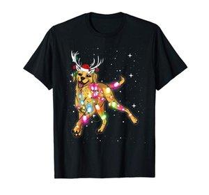 Luzes de Natal Labrador Retriever Dog T-Shirt-Men T-Shirt-Black