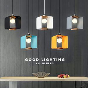 Nordic Solid Wood Restaurant Люстра освещение светодиодные фонари Творческий Кафе Лампа Лампы Простое Искусство Одной Головной Лампы Бесплатная Доставка